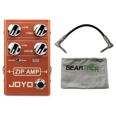 Joyo R Series R-04 Zip Amp Overdrive Pedal w/ Geartree Cloth and Cable