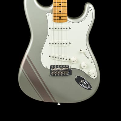 FenderFSR Traditional 50s Stratocaster - Inca Silver with Shoreline Gold Stripes #03493