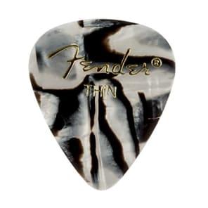 Fender 351 Premium Celluloid Guitar Picks - THIN, ZEBRA - 12-Pack (1 Dozen) for sale