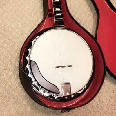 Kay Five string banjo eagle back  Natural