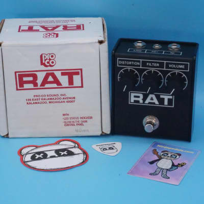 "ProCo RAT 2 w/Original Box | Rare Flat Box 1997 USA (Signed by ""Grape"") LM308N Chip 