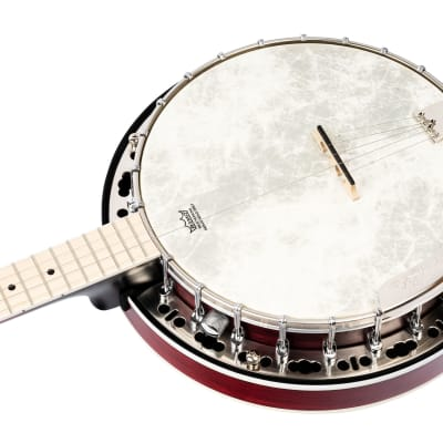 Ortega OBJE400TFR Falcon Series Banjo Fade Red + Gigbag
