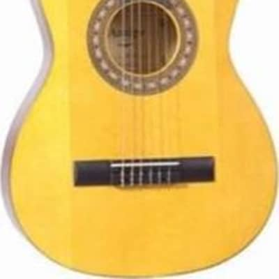 Perfect for classroom use and sized for 4th grade up, this 3/4-size, European classical guitar measures 36
