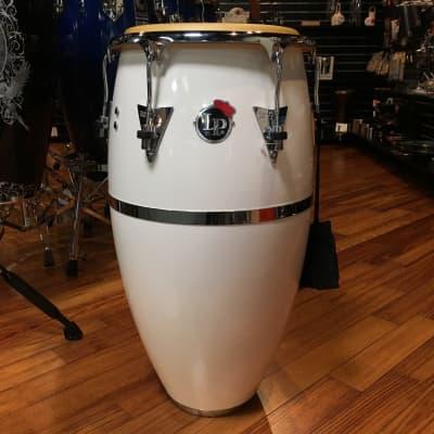 LP Latin Percussion Patato Signature Fiberglass Tumba in White/Chrome Pre Order