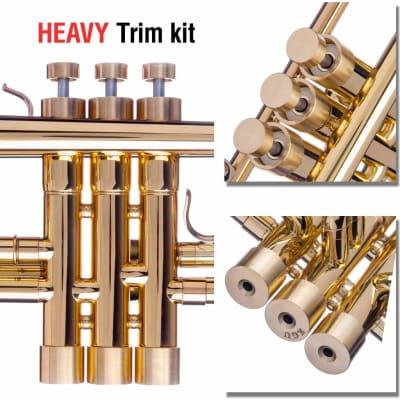 Trumpet Trim Kit for Getzen Heavy Raw Brass