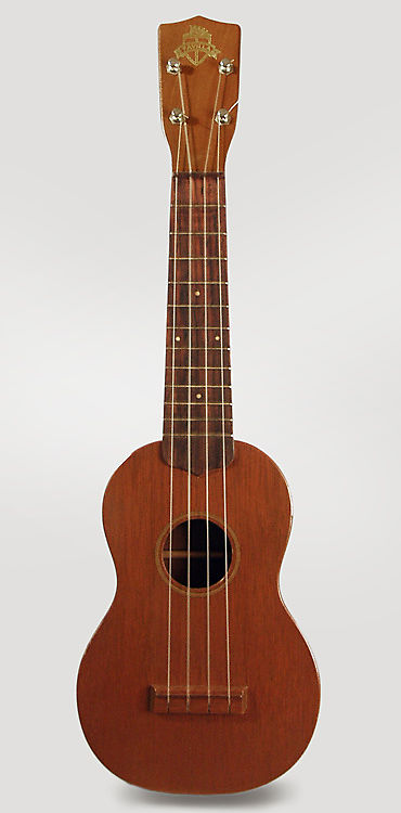 Favilla  Soprano Ukulele (1950's), original brown canvas gig bag case.