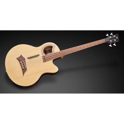 Warwick RockBass Alien Deluxe Hybrid Thinline 4-String Acoustic Electric Bass for sale