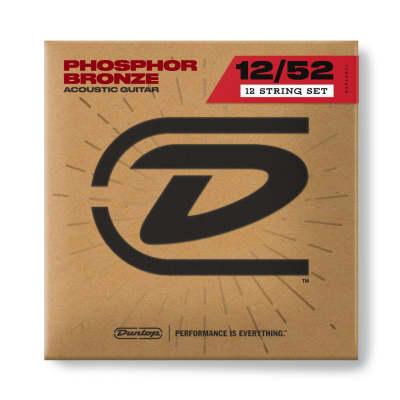 Dunlop Phosphor Bronze Acoustic Guitar Strings - 12-52 12 String