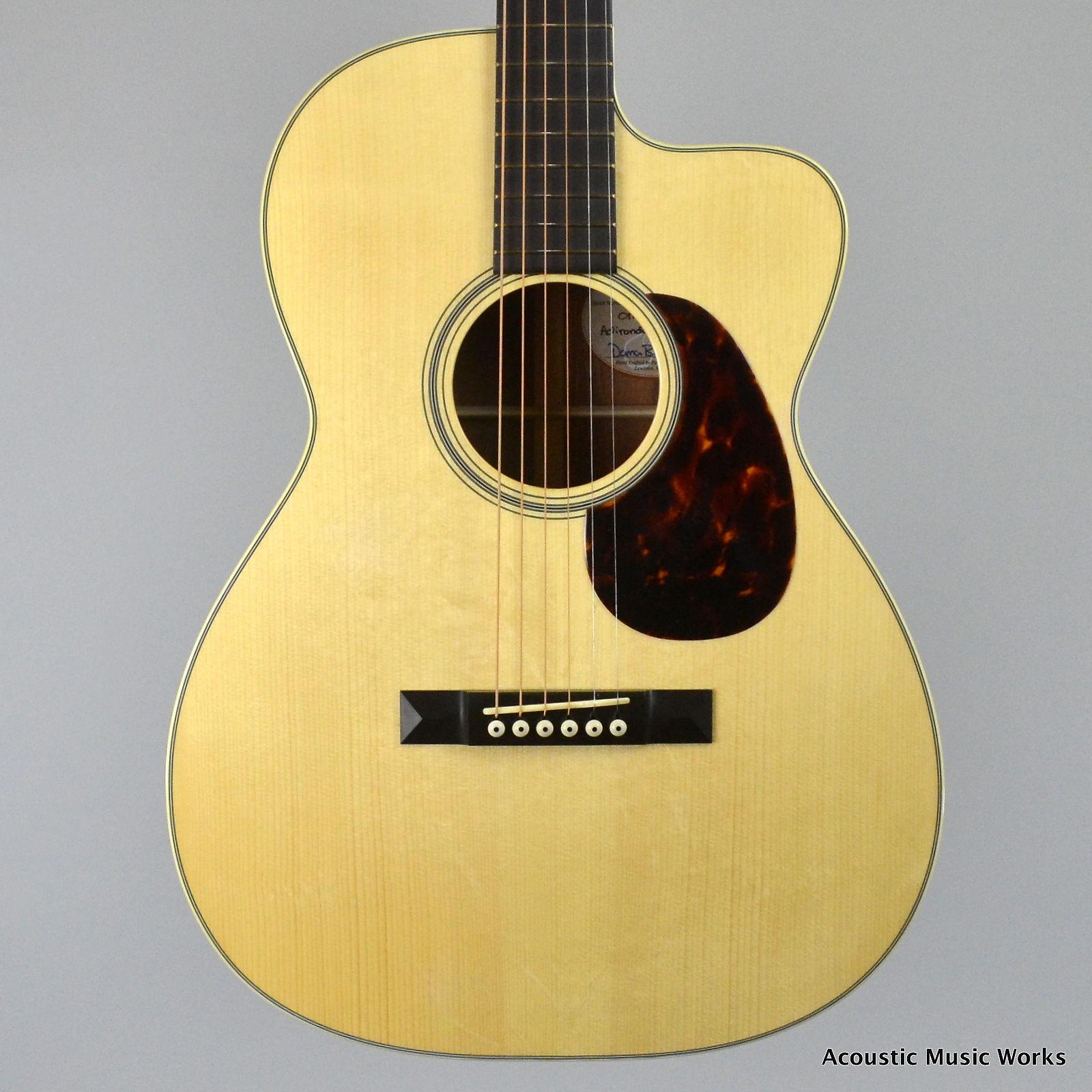 Bourgeois OMS, 12-Fret 000 Size, Cutaway, Adirondack Spruce, Koa