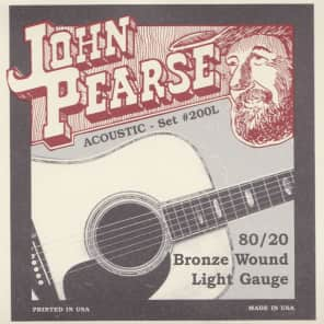 John Pearse Strings Acoustic Strings 80/20 Bronze Light 12-53