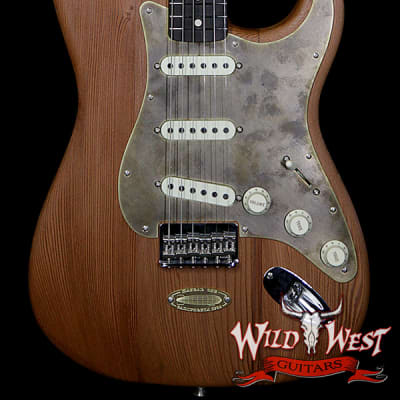 Fender Custom Shop Yuriy Shishkov Masterbuilt Airfield Stratocaster Closet Classic Reclaimed Redwood from Hangar One Zeppelin Storage for sale