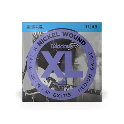 D'Addario EXL115 Medium Gauge Nickel Wound Strings 11-49