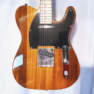 NEW in BOX! TV Style Guitar w/a Natural Butterscotch Finish, Black Pickguard, & Soft Case, & Cable! for sale