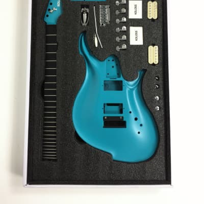 KOLOSS GT-4 Aluminum body Carbon fiber neck electric guitar Blue+Bag|GT-4 BLUE| for sale