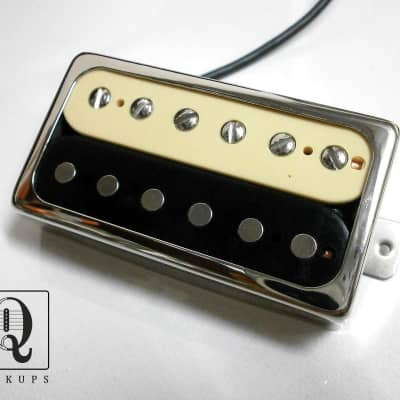 Q pickups  ZEBRA Open CHROME Cover  Humbucker PAF Guitar Pickup Hand Wound By Q Pickups for sale