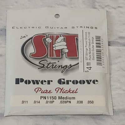 SIT Strings Power Groove Pure Nickel Medium 11-50 Electric Guitar Strings