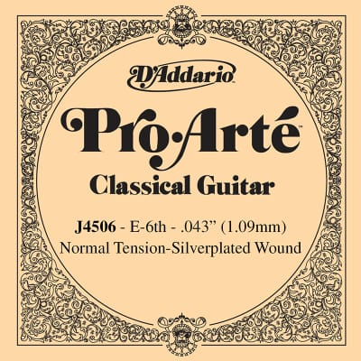 D'Addario Pro Arte 6th Silver Wound Single String .043 J4506