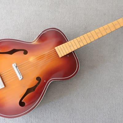 Vintage 1968 Kay Acoustic Guitar Plays Great Low Action Sunburst Clear Colors & Logo Clean Waverly T for sale