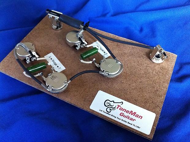 gibson es335 vintage 50 39 s prebuilt wiring harness kit. Black Bedroom Furniture Sets. Home Design Ideas