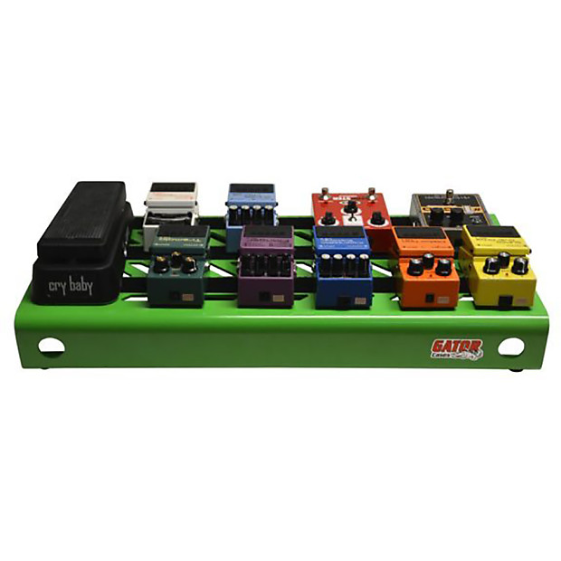 gator cases large guitar effects stompbox pedal board green reverb. Black Bedroom Furniture Sets. Home Design Ideas