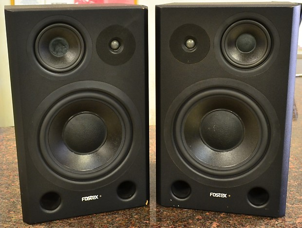 fostex pm841 3 way powered studio monitor speakers pair reverb. Black Bedroom Furniture Sets. Home Design Ideas