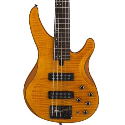 Yamaha TRBX605FM 5-String Electric Bass Guitar Matte Amber