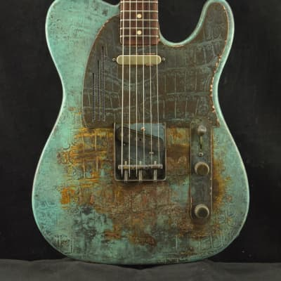 James Trussart Titanic Green Gator Steelcaster Electric Guitar for sale