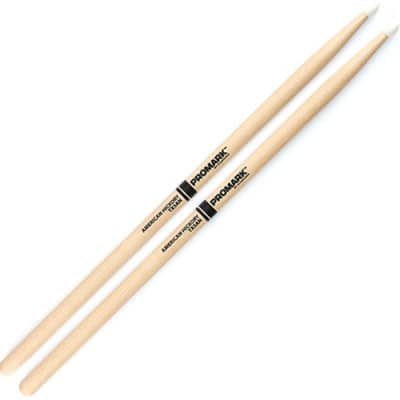 Pro-Mark TX5AN 1 Pair of 5A Hickory, 16 L Drumsticks with Nylon Tips
