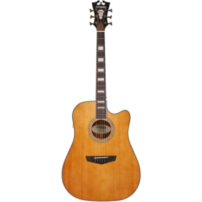 D'Angelico Premier Bowery Vintage Natural Electro-Acoustic Guitar for sale