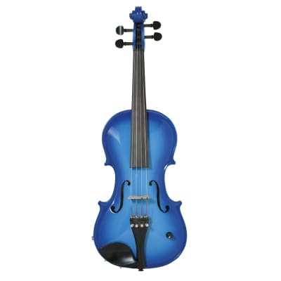 Barcus Berry Bb Acoustic Electric Violin Blue. B-Stock