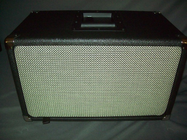 EarCandy 2x8 guitar amp speaker cab cabinet Genuine Marshall Salt and  pepper cane grill W Hemp Cones