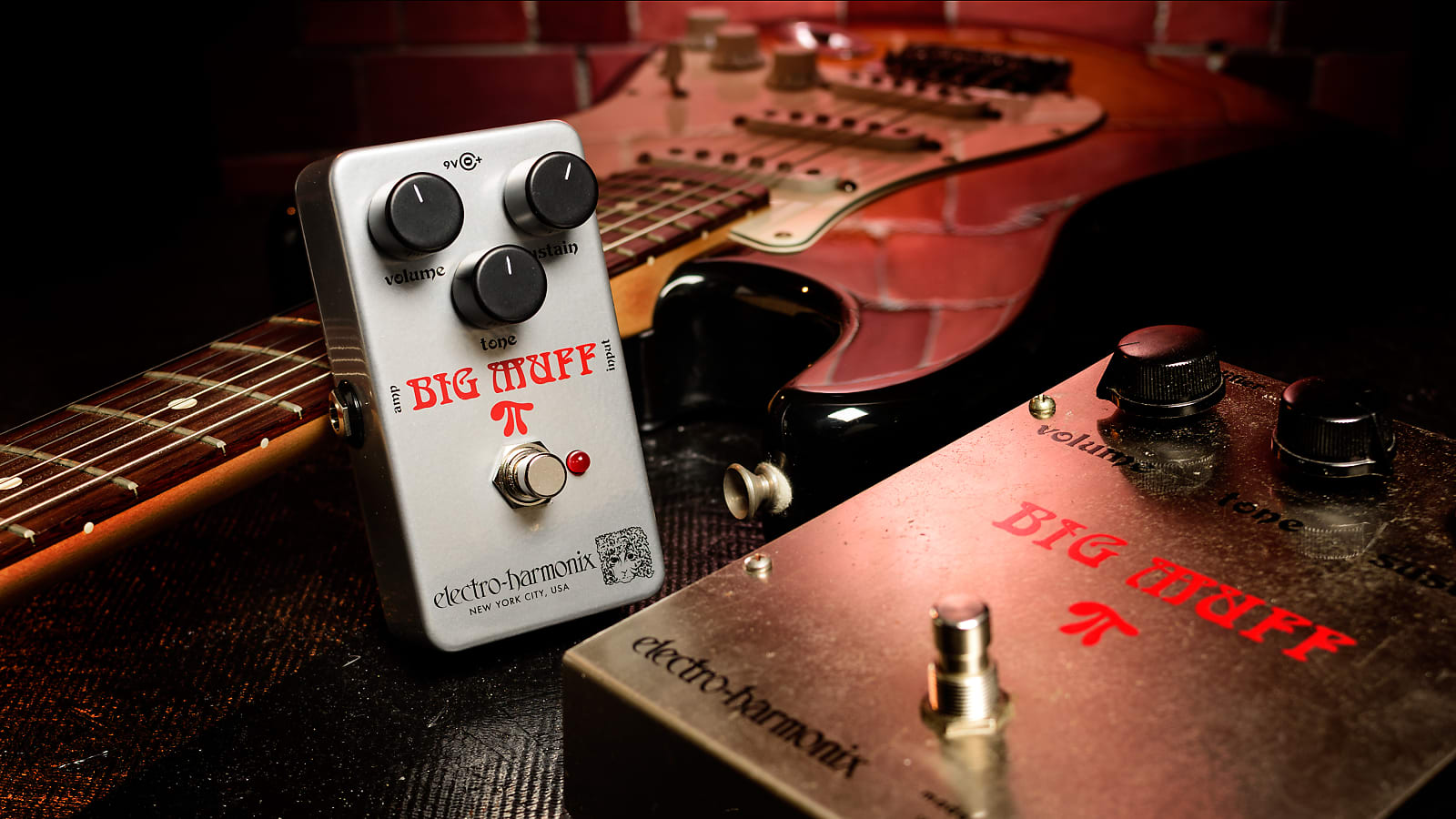 Electro-Harmonix EHX Ram's Head Big Muff Pi Distortion / Sustainer Effects Peda