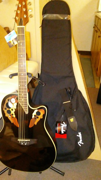 2 DAY SALE! Ovation Applause Elite AE44-5 Gloss Black | Reverb