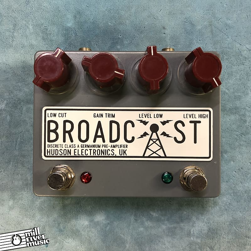 Hudson Electronics Broadcast Dual Footswitch Class-A Germanium Preamp Pedal