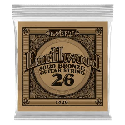 Ernie Ball .026 Earthwood 80/20 Single