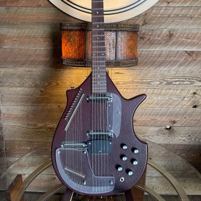 Jerry Jones Master Electric Sitar 1990 - 1993 Red Crackle Gator for sale