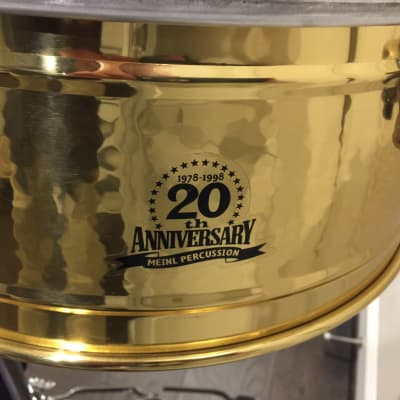 Meinl Luis Conte 20th Anniversary Timbales 1998 Hammered Gold