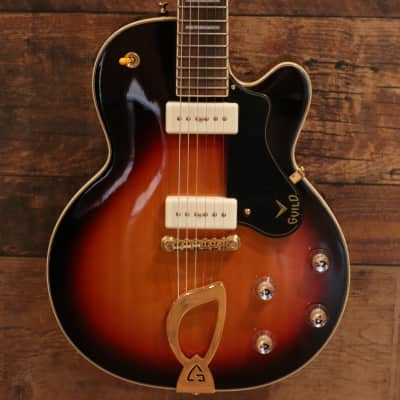 Guild M-75 Aristocrat 2015 Chambered Body Electric Guitar - Antique Burst