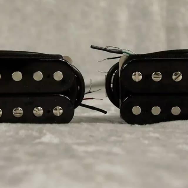 NEW! Bare Knuckle Black Dog Blackdog humbucker pickup set with black coils image