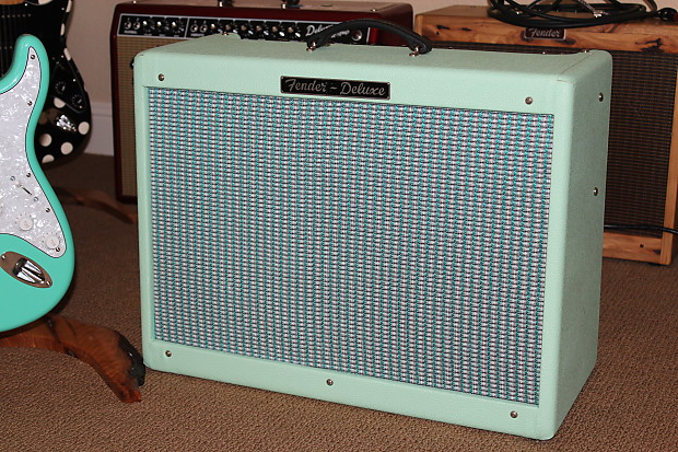 Deluxe Auto Parts >> Fender Hot Rod Deluxe 1999 USA Made Seafoam Green MINT   Reverb