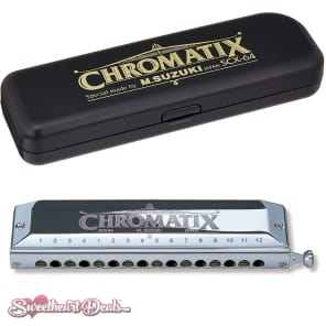 Suzuki  SCX-64C Chromatix Series Harmonica Key of C 64 Reeds 16 Holes
