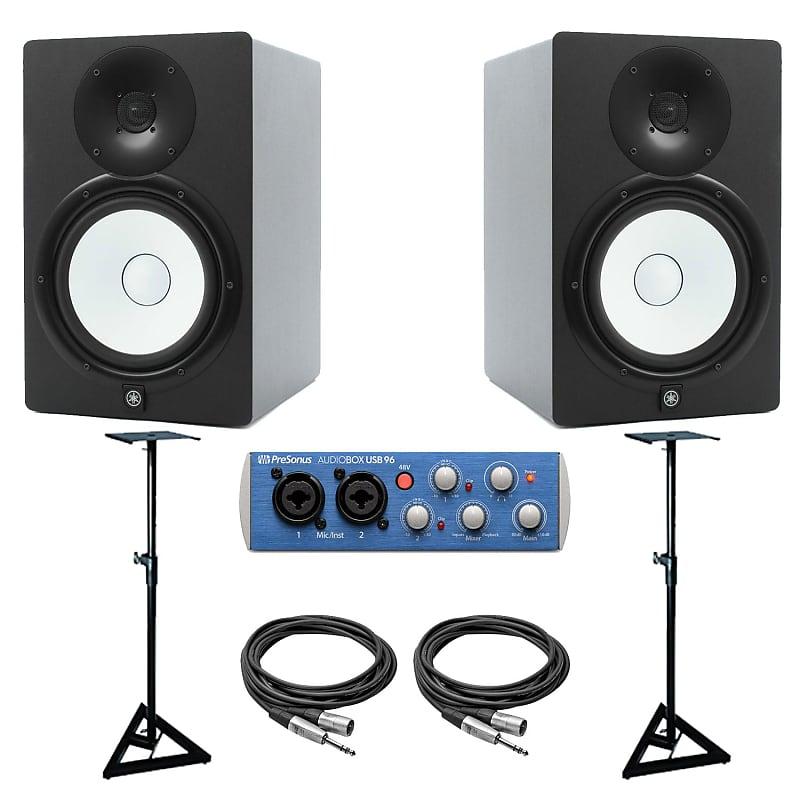 yamaha hs8 powered monitor speakers speaker stands reverb. Black Bedroom Furniture Sets. Home Design Ideas