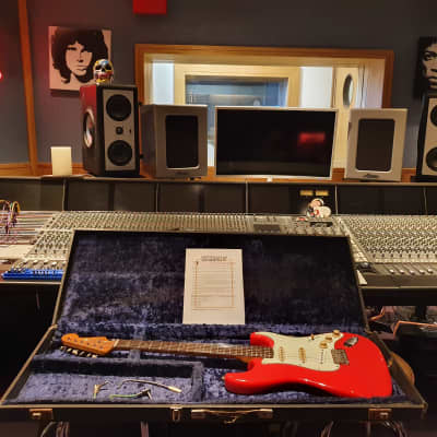 RARE 1963 Fender Strat Fiesta Red (Hank Marvin, Gary Moore) Vintage American USA Guitar with COA!