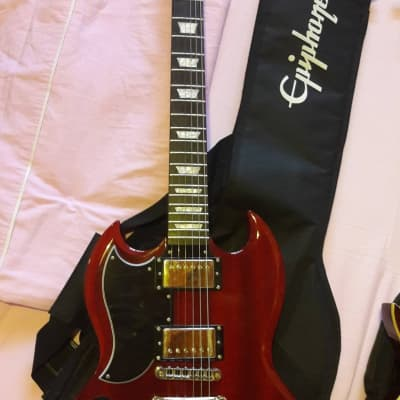 Epiphone G-400 Pro SG (Left-Handed) Cherry for sale