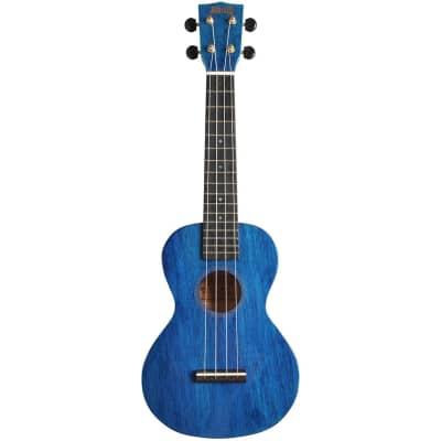 Mahalo Hano Series MH2 Concert Ukulele Transparent Blue