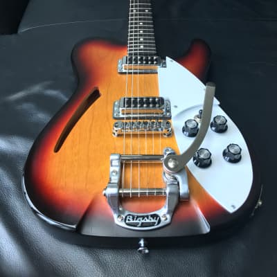 2018 Banning Heartbreaker sunburst bigsby and Gigbag open to trades for sale