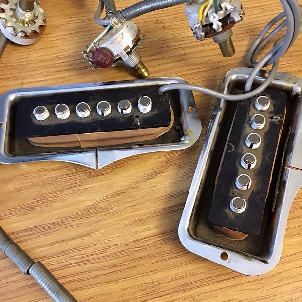 Fender Original vintage fender coronado II wiring harness pots, pickups on