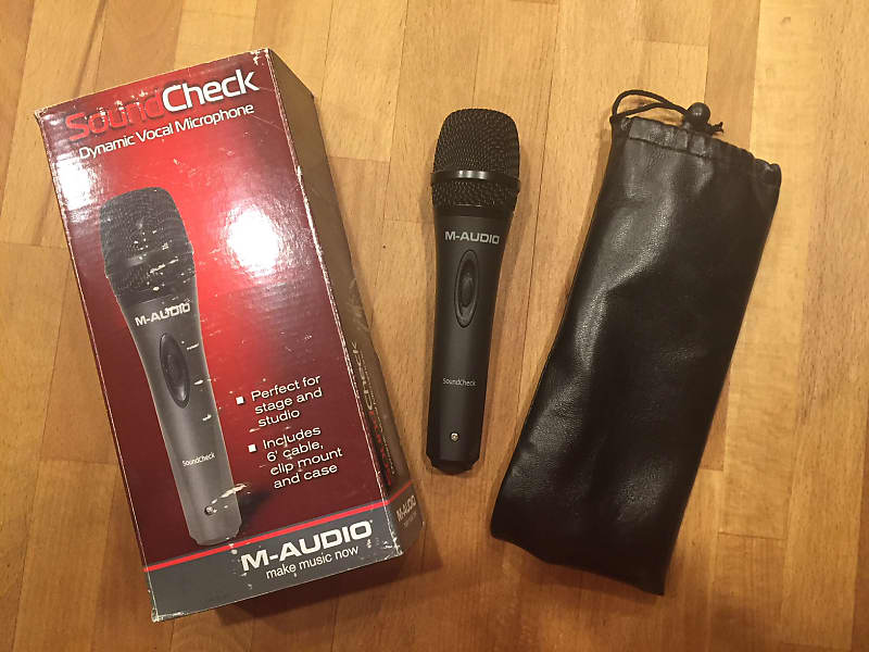 M-Audio Sound Check Microphone Dark Gray