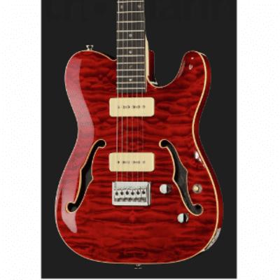 Harley Benton TE-90QM Trans Red for sale