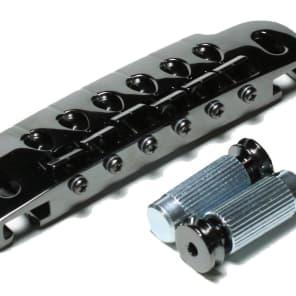GOTOH 510UB Wraparound Guitar Bridge and Tailpiece Cosmo Black with Stud Lock for sale